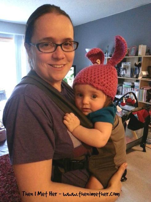 Babywearing easter ears