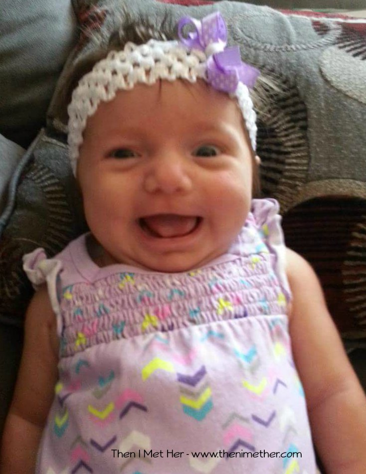 Gradie in the infant stage - look at that big smile!